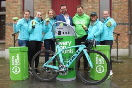 Drops cycling team works with Every Can Counts to raise awareness for recycling